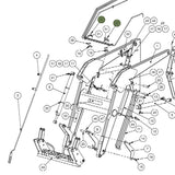 Oil Line Clamps Diagram for JD 740 Loader