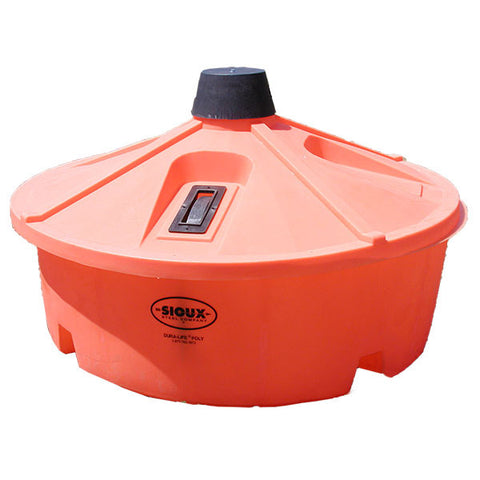 Orange Large Capacity Lick Feeder by Sioux Steel