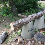 Stand Raising Logs While Cutting Wood