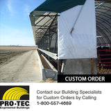 Building Awning for Feeding Livestock