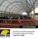 Livestock Building Shelter With Awning