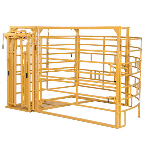 Circular Calving Pen with Head Gate