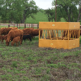 Feed Cattle with Square Hay Max Feeder