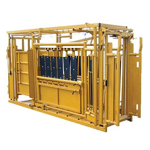 Sioux Steel Squeeze Chute System With Auto Head Gate