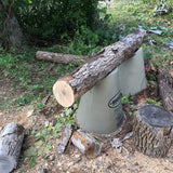 Use Pipe Stands to Make Log Cutting Easier
