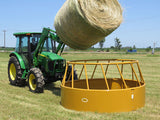 Hay Feeder Accommodates Large Round Bales