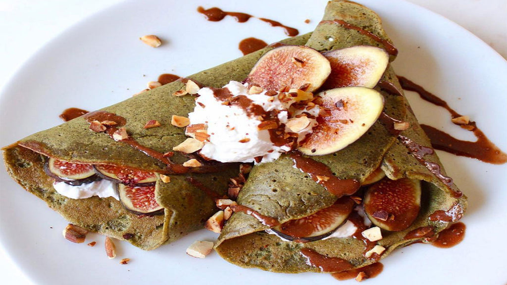 Vegan Wheatgrass Crepes