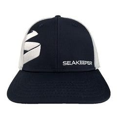 Seakeeper Navy & White Flexfit Mesh Hat - Front View