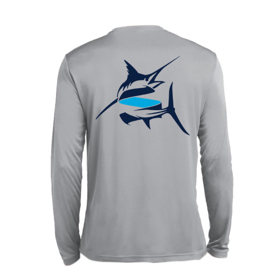 SEAKEEPER FIGHT THE FISH LONG SLEEVE T-SHIRT - BACK VIEW