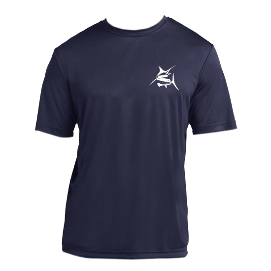 SEAKEEPER FIGHT THE FISH PERFORMANCE T-SHIRT - FRONT & BACK IMPRINT