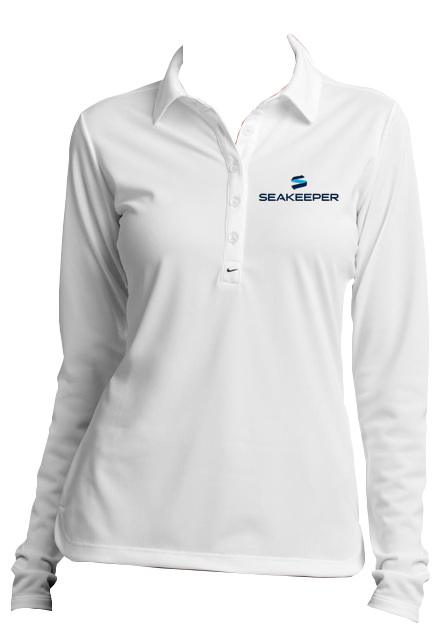 b22293c06f3fd WOMEN'S SEAKEEPER NIKE LONG SLEEVE DRI-FIT POLO – Seakeeper