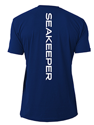 SEAKEEPER T-SHIRT WITH VERTICAL IMPRINT BACK - BACK VIEW