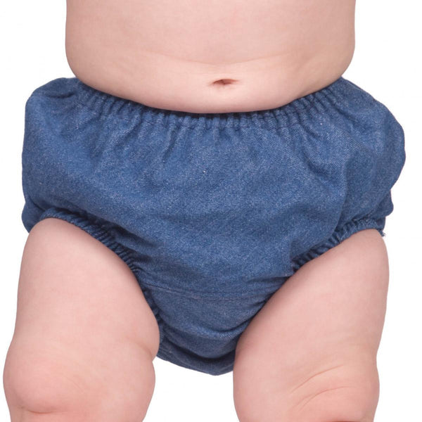 Babies Denim Diaper Cover Bloomers (SZ NB to 6)