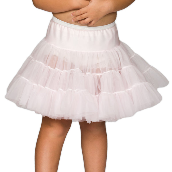 I.C. Collections White or Pink Bouffant Half Slip Petticoat, (9m-14)