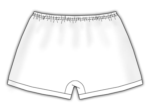 White Batiste Monogrammable Boxers, (NB - XL)