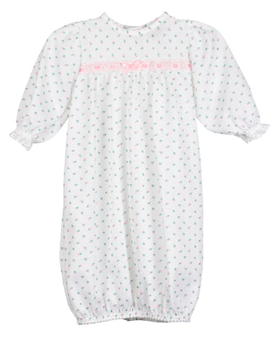Baby Girls Rosebud Jersey Infant Sacque Sleeper (PR - NB)