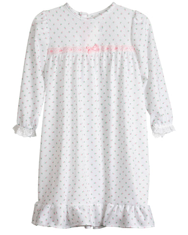 Girls Rosebud Jersey Long Sleeve Nightgown (9m-14)