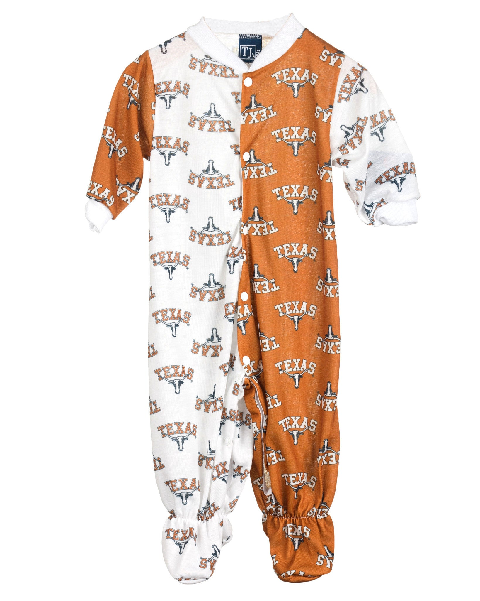 University Of Texas UT Longhorn Footed Infant Jumpsuit (NB-24m)