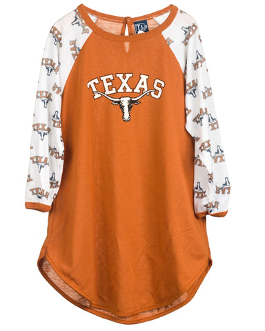 University Of Texas UT Longhorn Long Sleeve Dorm Nightshirt (2T-16)