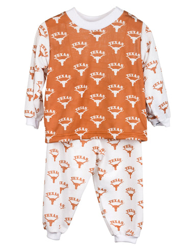 University Of Texas UT Longhorn Long Sleeve 2pc Pajama Set (9m-16)