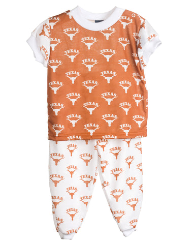 University Of Texas UT Longhorn Short Sleeve 2pc Pajama Set (9m-16)