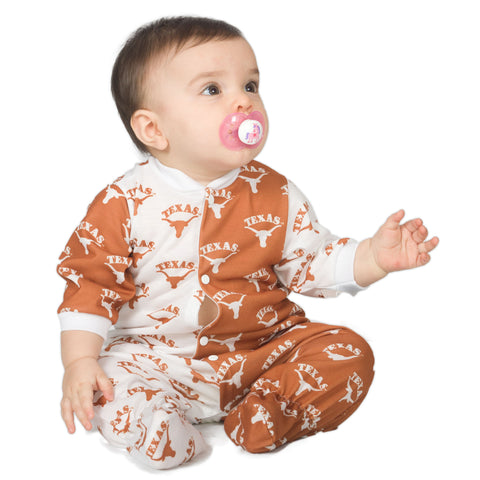University Of Texas UT Longhorns Footed Baby Jumpsuit (NB - 24m)