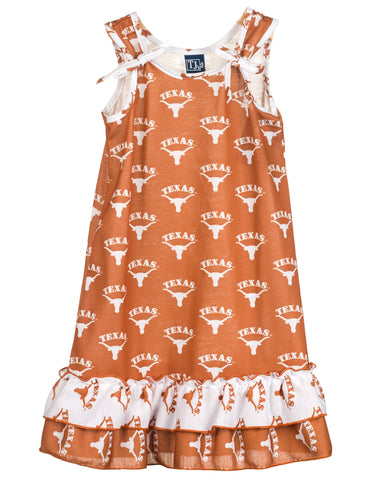 University Of Texas UT Longhorn Girls Tie Top Gown (12m-14)