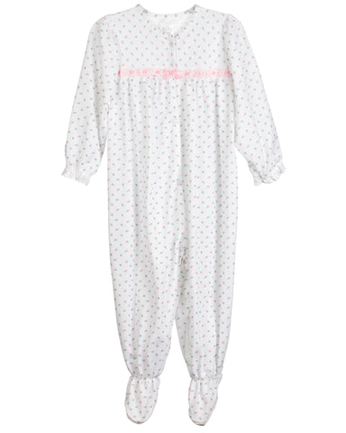 Baby Girls Rosebud Jersey Long Sleeve Jumpsuit Pajama (3m-24m)