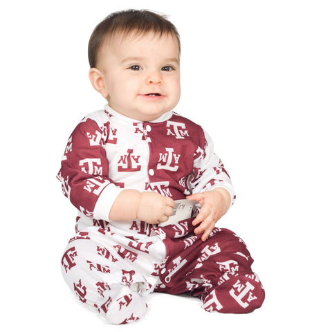 Unisex Baby Texas A&M Aggies Footed Infant Jumpsuit (NB - 24m)