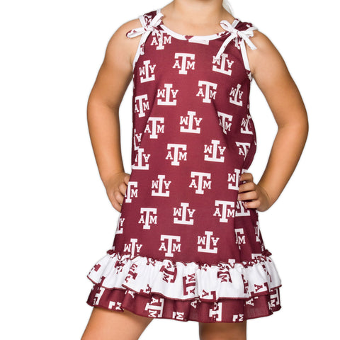 Girls Texas A&M Aggies Tie Top Gown (12m - 14)