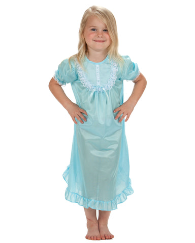 Laura Dare Girls Short Sleeve Traditional Nightgown (6 Colors Available)
