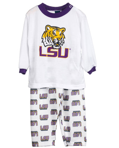 Louisiana State LSU Tigers Long Sleeve 2-Piece Screen Print PJ Set (9m - 16)