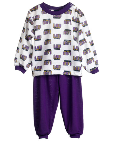 Louisiana State LSU Tigers Long Sleeve 2-Piece Pajama Set (9m - 16)