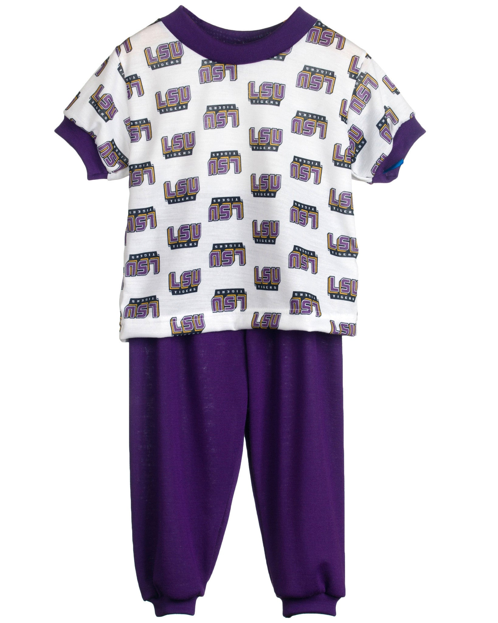 Louisiana State LSU Tigers Short Sleeve 2-Piece Pajama Set (9m - 16)