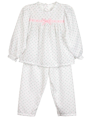 Little Girls Rosebud Jersey 2-pc Long Sleeve Pajama Set (12m-6x)