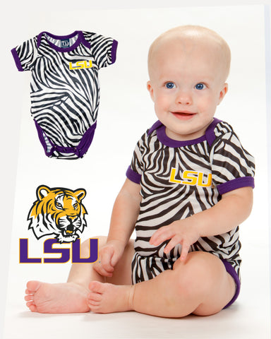 Louisiana State LSU Tigers Baby Girls Itsy Bitsy (NB - 24m)