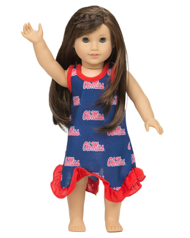 Ole Miss Rebels Racerback Doll Gown