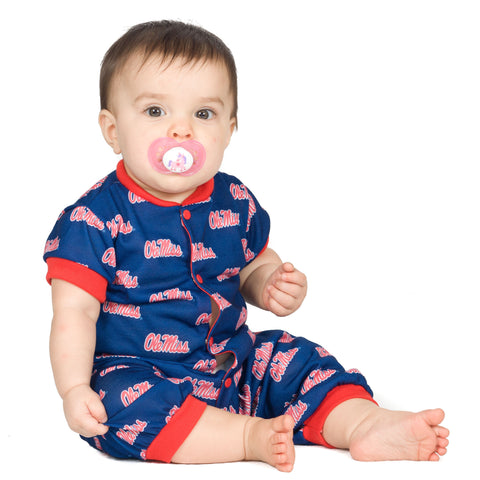 OleMiss Rebels Unisex Baby Jumpsuit (NB - 24m)