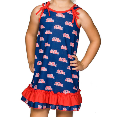 Ole Miss Rebels Girls Tie Top Gown (12m - 14)