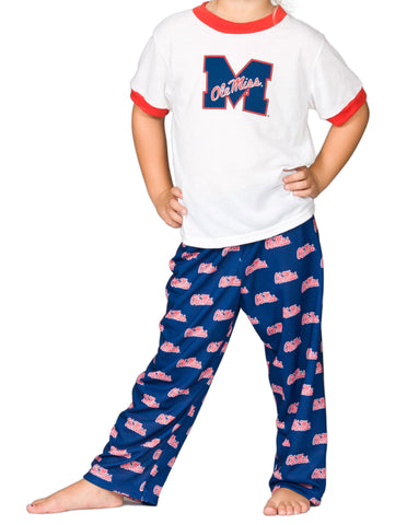 OleMiss Rebels Boys or Girls 2-Piece Short Sleeve PJ Set (9m - 16)