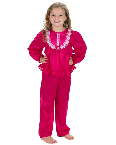 Laura Dare Girls Long Sleeve Traditional PJ Set (6 Colors Available)