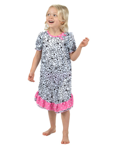 Laura Dare Sweet Daisey Puff Sleeve Nightgown (6m-14)