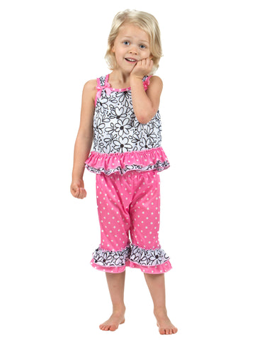 Laura Dare Sweet Daisey Bow Top Pajamas (6m-6x)