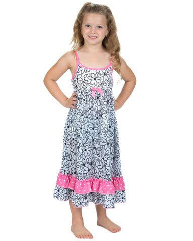 Laura Dare Sweet Daisey Spaghetti Strap Nightgown (2t-14)