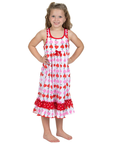 Laura Dare Heart Strings Racerback Nightgown (4-14)