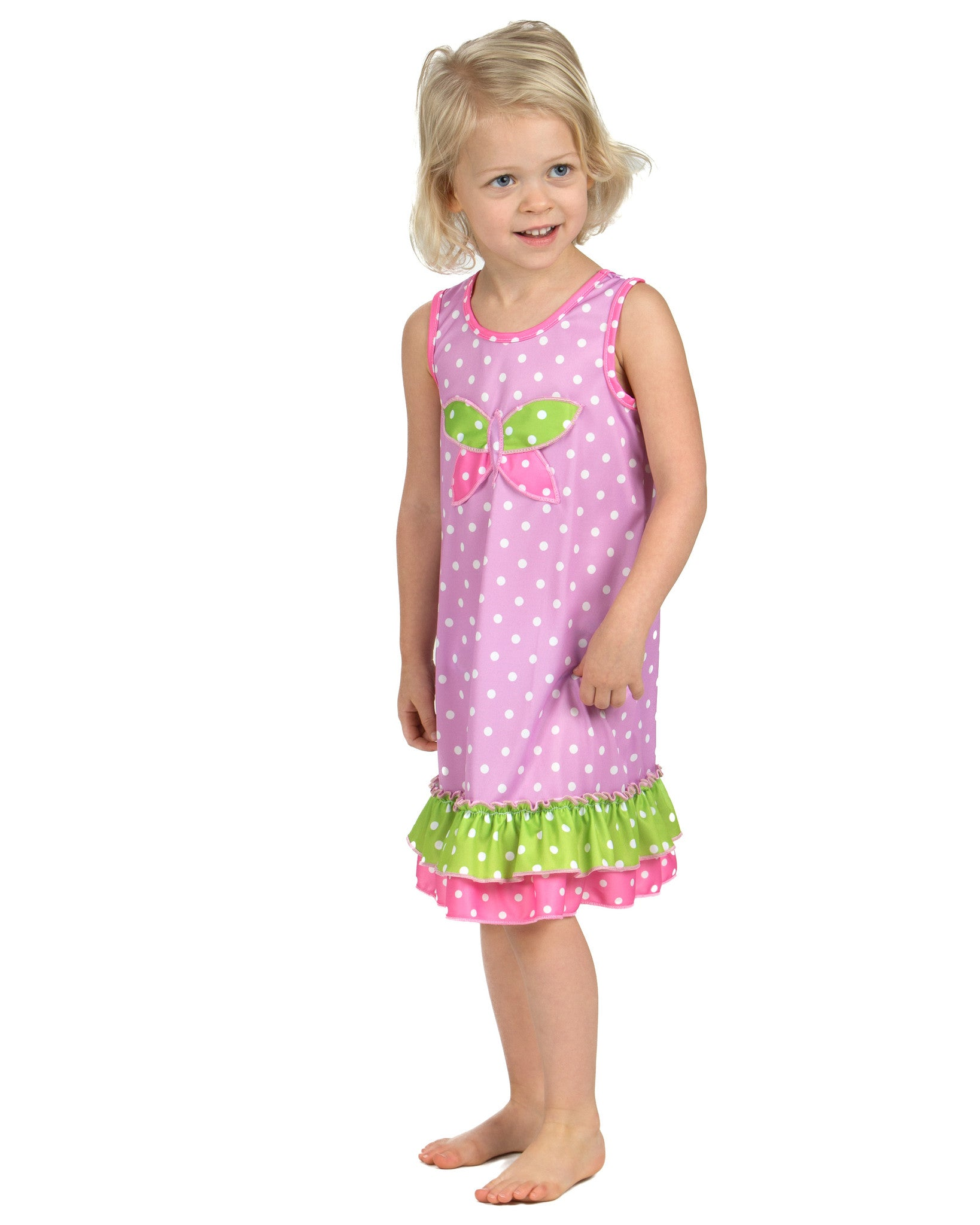 Laura Dare Dot Egg Stravaganza Butterfly Nightgown (12m-6x)