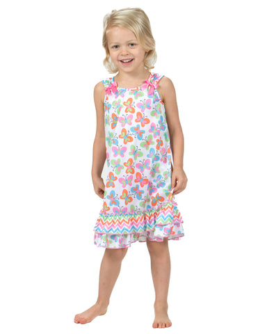 Laura Dare Flutterby Bow Top Nightgown (6m-6x)
