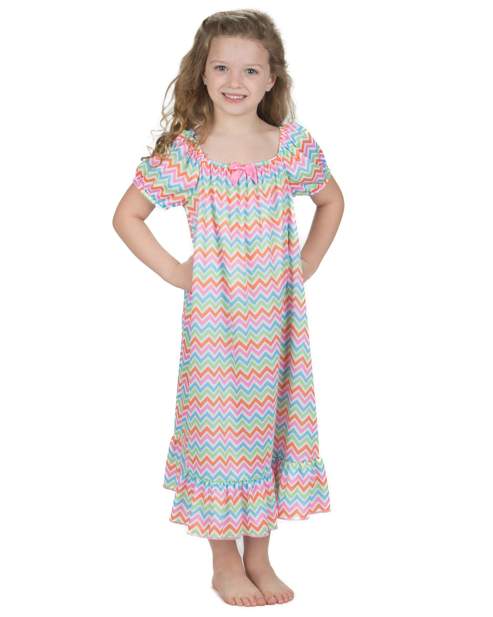 Laura Dare Flutterby Puff Sleeve Nightgown (6m-14)