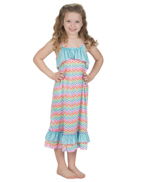 Laura Dare Flutterby Spaghetti Strap Nightgown (4-14)