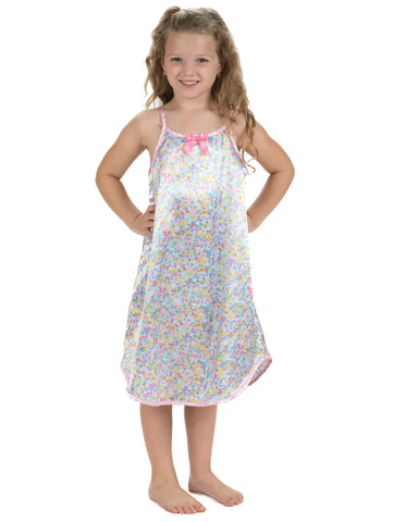 Laura Dare Cotton Candy Spaghetti Strap Nightgown (2t-14)